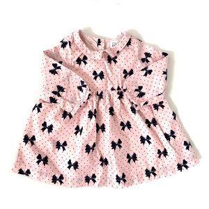 3/$25 GAP Baby Girl Bow Collared Dress